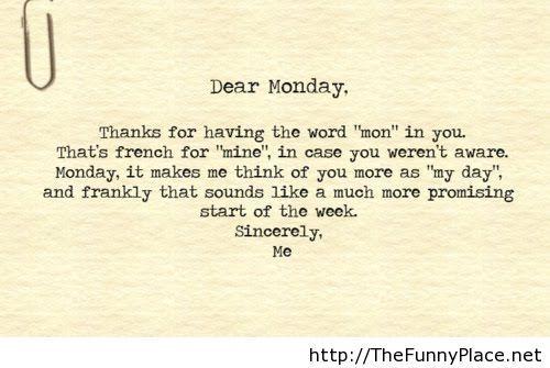 Funny monday poem