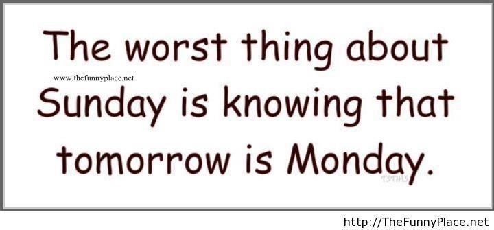 Funny saying on sunday
