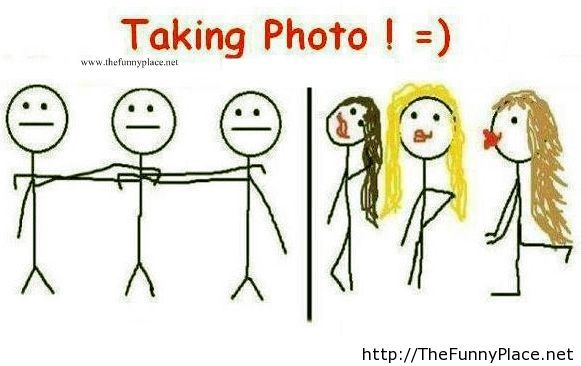 Girls vs boys taking photos for Facebook