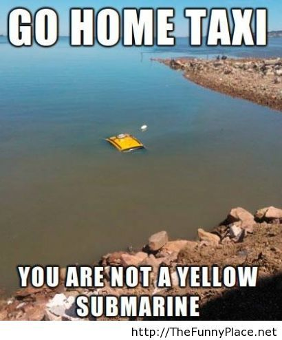 Go home taxi, you are drunk!