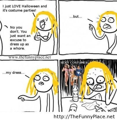 Halloween rage comic 2013 with sexy costumes