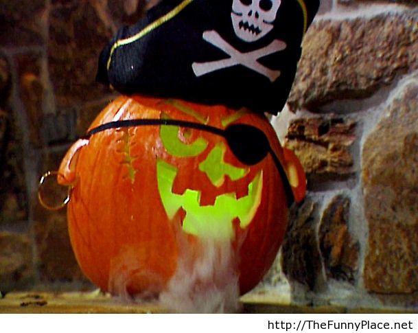 Hallowen pirate pumpkin