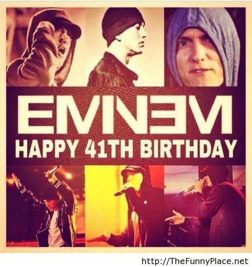 Happy Birthday Eminem 41 years old