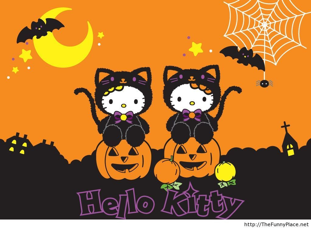 Hello kitty wallpaper for Halloween