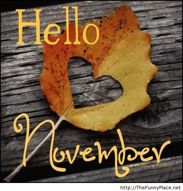 Hello november be good