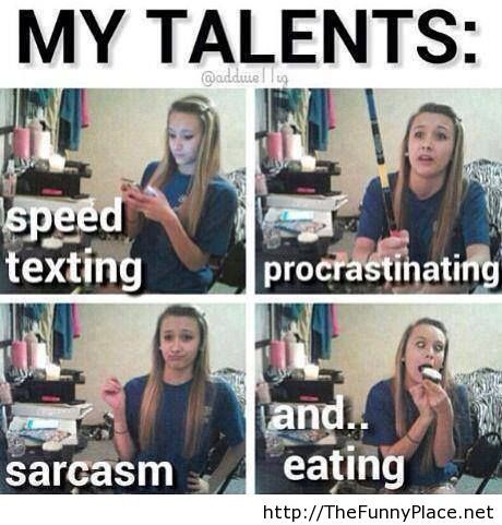 Her talents funny