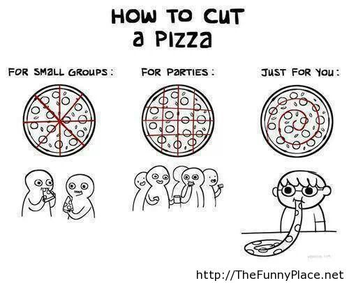 How to cut a pizza prank
