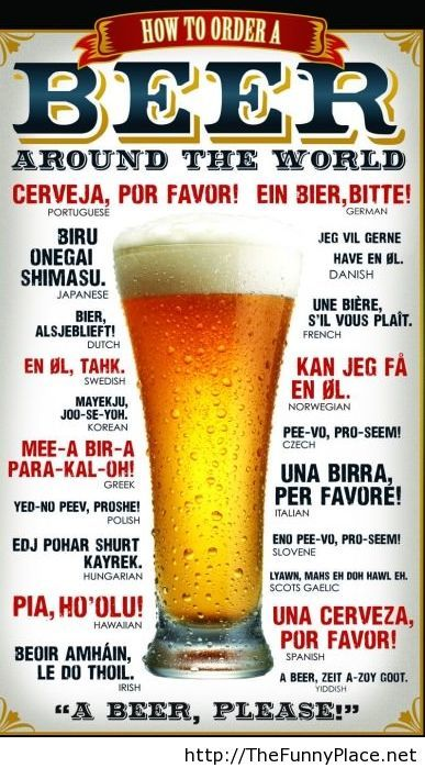 How to order a beer humor