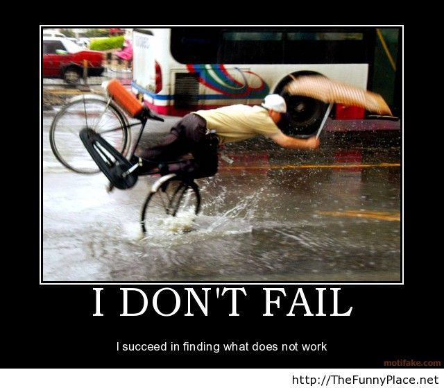 I dont fail demotivational