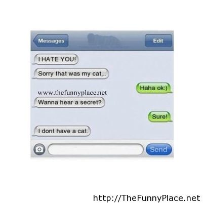I hate you funny conversation