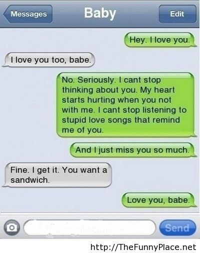 I love you too conversation