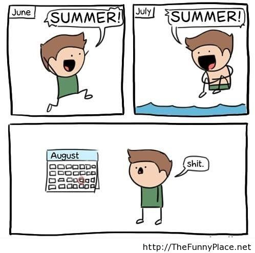 I miss summer funny comic