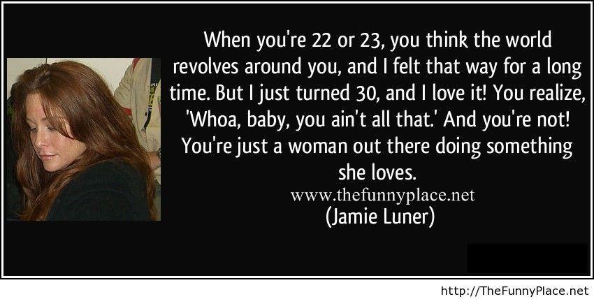 Jamie Luner wise words