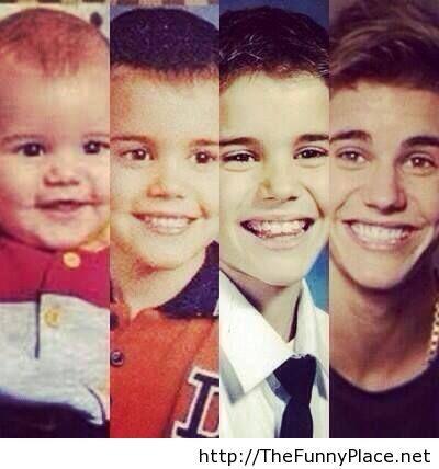 Justin Bieber cool evolution