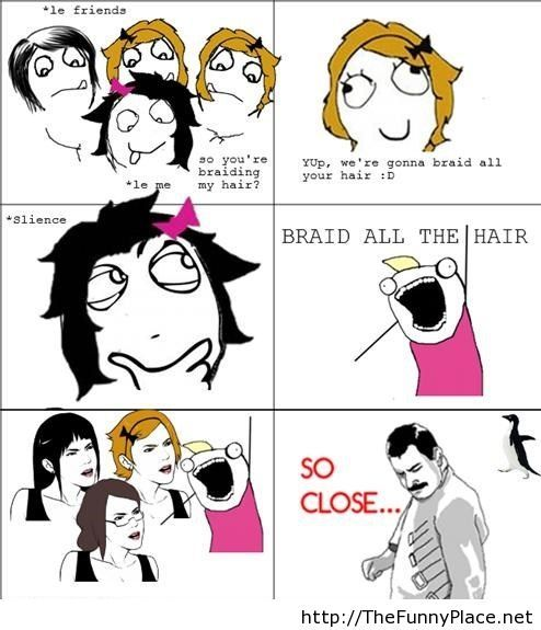 Le friends rage comic with derpina