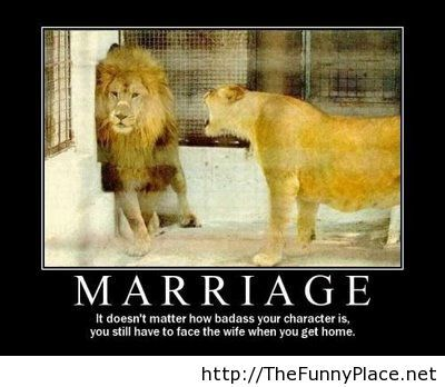 Marriage demotivational picture