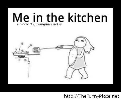 Me cooking in the kitchen