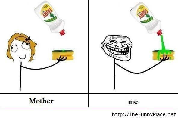 Me vs mother funny