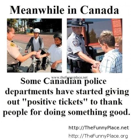Meanwhile police in Canada