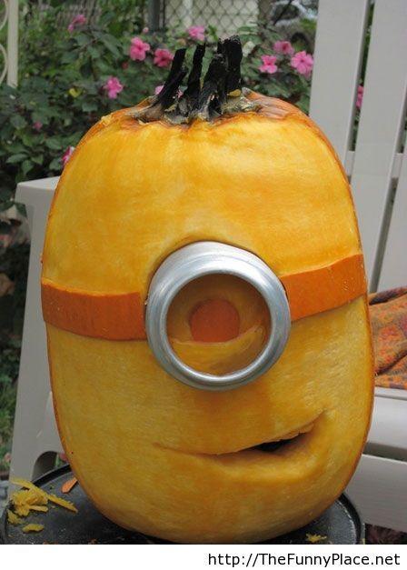 Minions funny pumpkin