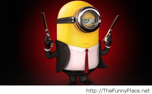 Minions in black wallpaper