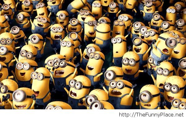 Minions wallpaper with happiness