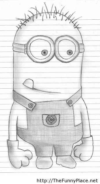 Mionions funny drawing picture