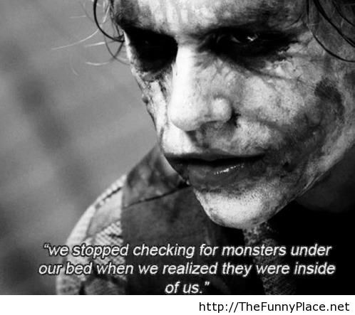 Monsters under bed quote