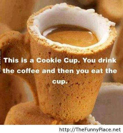 Morning cookie cup is awesome