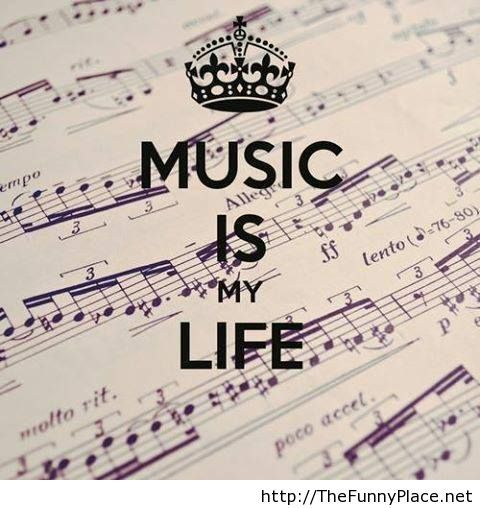 Music wallpaper with saying
