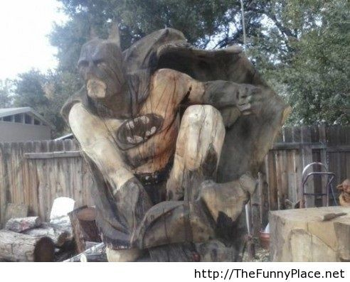 My friend is a chainsaw carver, he recently made this