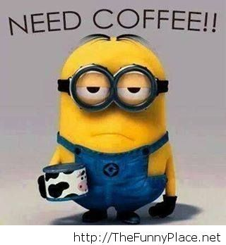 Need cofffee morning wallpaper with mionions