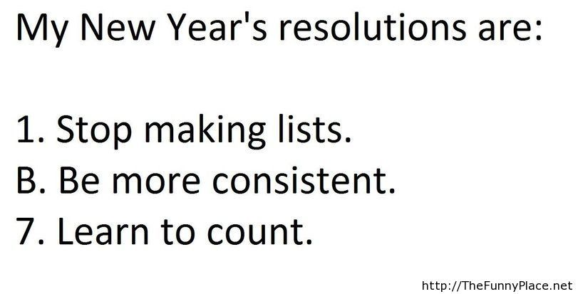 New year resolution 2014