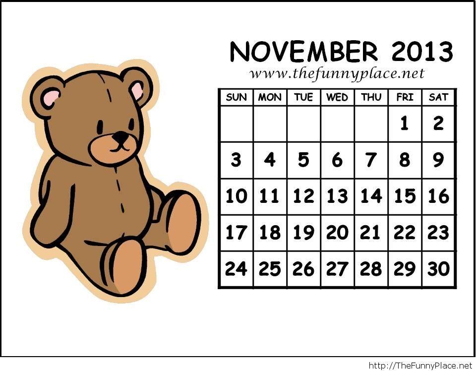 November 2013 free calendar