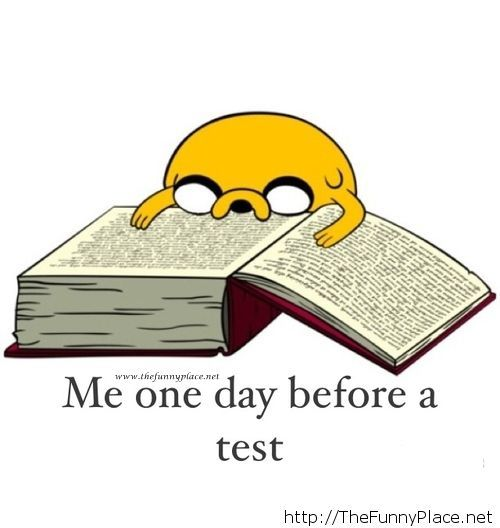 One day before the test