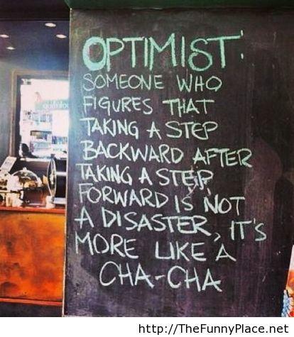 Optimist-saying
