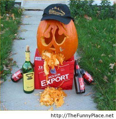 Partied hard on Halloween