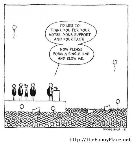 Politics in a nutshell comics joke