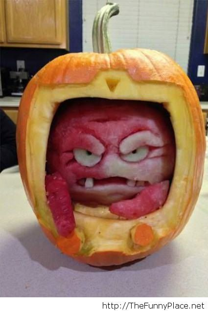 Pumpkin of the year 2013, funny but scary