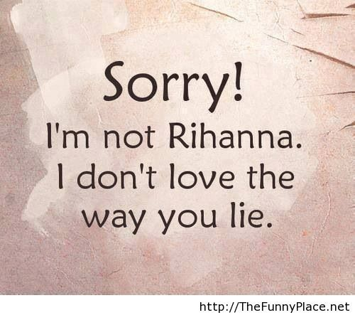 Rihanna funny quote