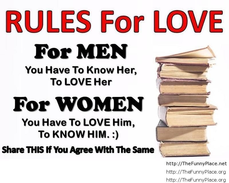 Rules for love quote