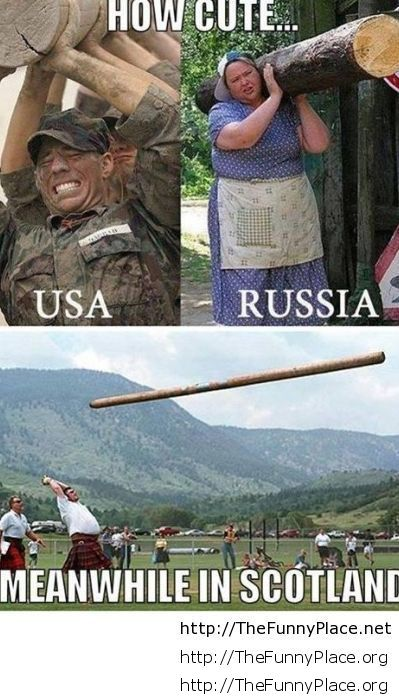 Russia vs Usa vs Scotland