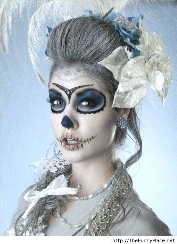 Scary girl makeup