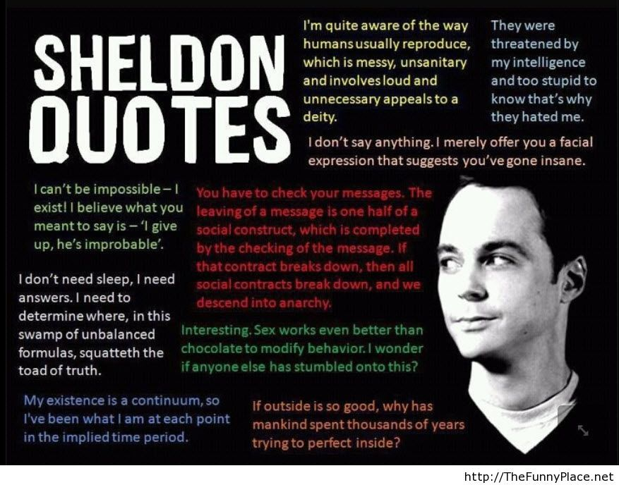 Sheldon quotes best of