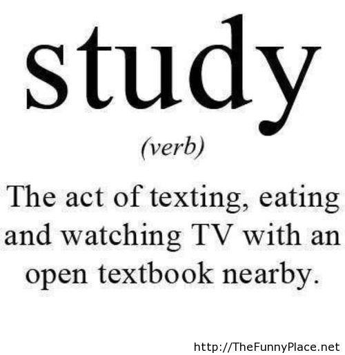 Study funny saying