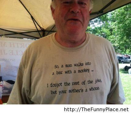 T-shirt funny joke