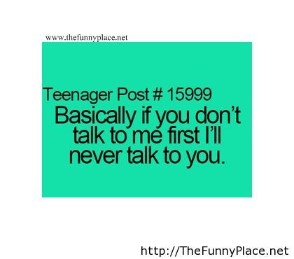 Teen post saying