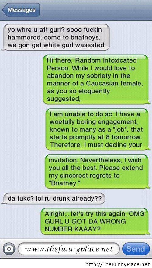 Text messages joke
