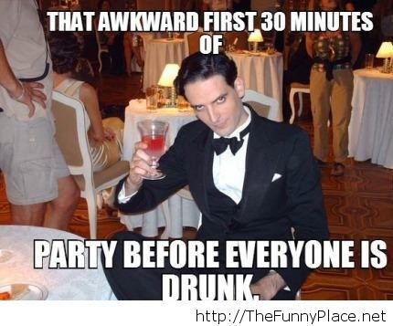 That awkward moment at a party