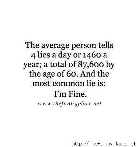 The average person...